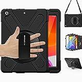 BRAECN iPad 8th/7th Generation Case, iPad 10.2 2020/2019,Heavy Duty Shockproof Rugged Case