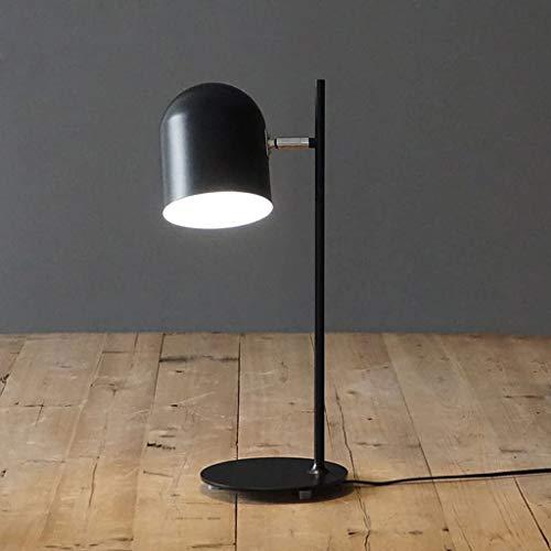 Luces de interior Morden lámpara de mesa Samll Study Desk Lamp, Salón de lectura luces del dormitorio de noche Mesilla de noche de luz de lámpara de trabajo de oficina (color: azul), Color: Negro Lámp