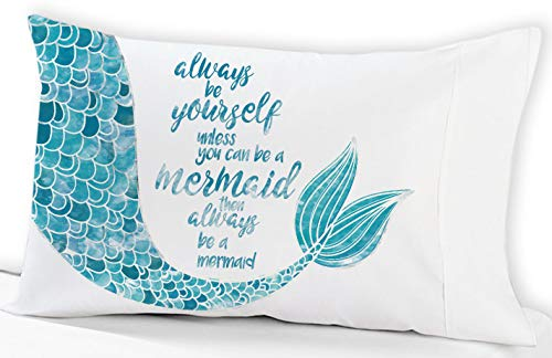 Custom-PillowCases-by-StockingFactory Mermaid Pillowcase Always be Yourself Unless.(Standard 19