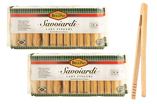 Bellino Savoiardi Lady Fingers for Tiramisu Italian Biscuits, 7 ounce (Pack of 2) in Intfeast Packaging