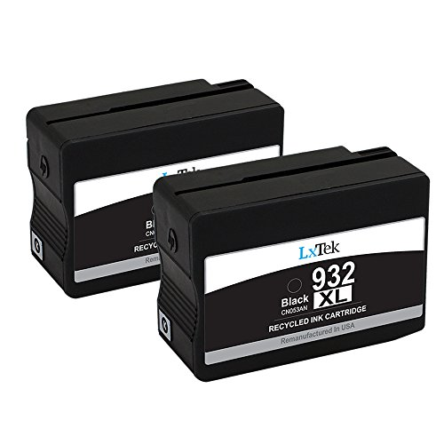 LxTek (2 Black) Remanufactured 932XL 932 XL Ink Cartridge Replacement for HP 932XL 932 XL Ink Cartridge High Yield Compatible with HP Officejet 6600 6700 7610 7612 6100 7110 7100 Printer