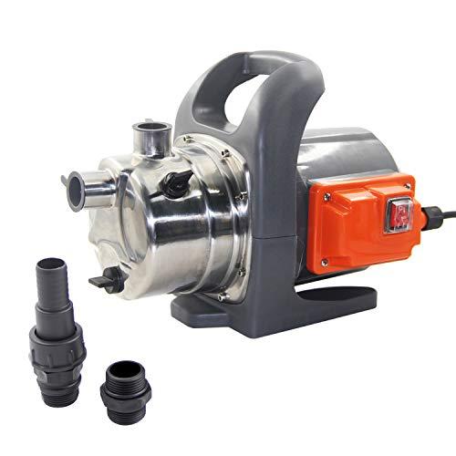 Amazon Brand - Umi Pompa da Giardino 800W, Portata massima: 3200 l/h, pompa di trasferimento dell'acqua e moltiplicatore di pressione dell'acqua