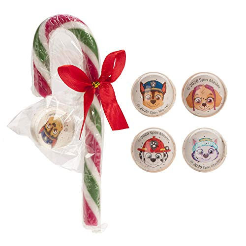 Patrulla Canina (Chase, Skye, Marshall y Everest) - Bastón de Caramelo con Canica - Sabor a Fresa - Sin Gluten - 15 g