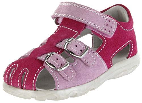 Jela Kinder Lauflerner-Sandalen pink Velourleder Mädchen Schuhe 2101Z-551-3501 Fuchsia Terrino, Farbe:pink, Größe:25 EU