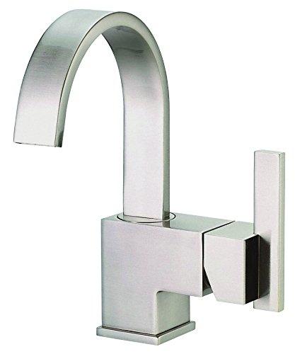 Gerber D221144BN Sirius Single Handle Bathroom Faucet with Metal Touch-Down Drain, Brushed Nickel
