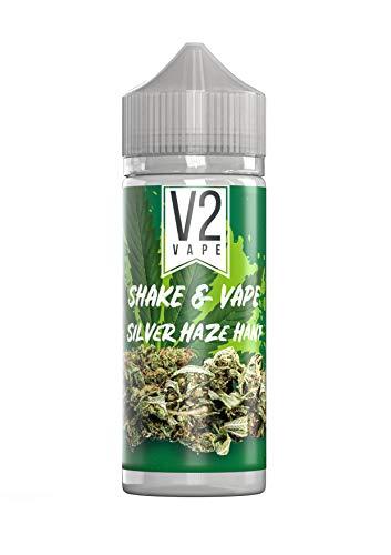 V2 Vape Shake and Vape Silver-Haze-Hanf | 20ml hochdosiertes Aroma-Konzentrat zum mischen mit Base für E-Liquid | Longfill, zum direkt dampfen, keine Reifezeit | 0mg nikotinfrei