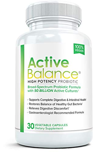 Active Balance- Professional Strength, High Potency Probiotic Formula - 50 billion CFU's - 30 capsules
