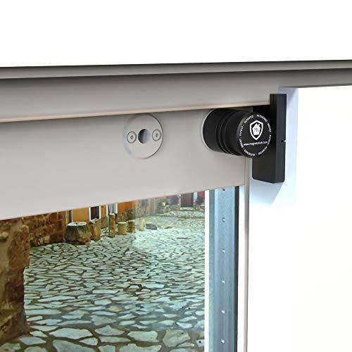Magnetolock V2.0 REMACH(Blanco).Bloqueo de seguridad para ventanas y puertas correderas. Bloqueo con ventana cerrada y abierta. Ajustable posición de ventilación para seguridad niños, bebé y mascotas.