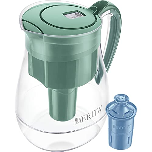 Brita Longlast Monterey Water Filter Pitcher, Green, Large 10 Cup, 1 Count