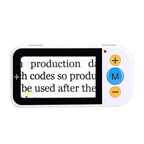 MWEIMA 4.3in Ayudas De Lectura De Lupa Digital De Video Portátil, Ajuste De Aumento De 2-32x, 12 Modos De Color, Salida A TV, Asistente Ideal para Leer, Escribir