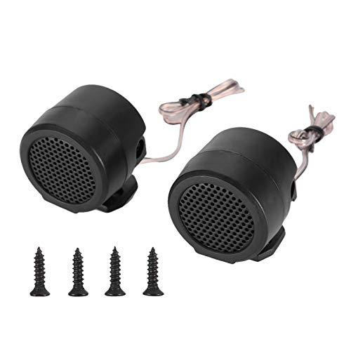 Tweeter de coche, plástico negro 12V 500W Mini altavoz de coche Tweeter de audio 165mm 91dB Altavoz altavoz de automóvil