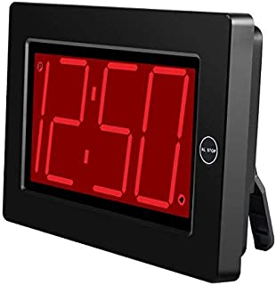 KWANWA Digital LED Wall Clock with 3' Large Display Battery Operated/Powered Only - Black