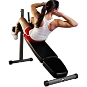 XMark Adjustable Decline Ab Workout Bench for Sit Up, Crunches, Abdominal Muscles Exercise, 12-Position XM-7608
