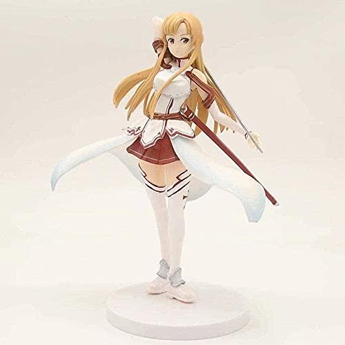 ANMINA Toys Espada Arte EN Linea Combate Blanco Juego DE Combate Asuna Persona PRE Pendiente Heroína Chica Anime Figuras colección Estatua Modelo niños Juguetes Regalo