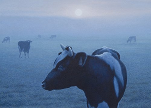 Postkarte A6 • 22854 ''Kühe im Nebel'' von Inkognito • Künstler: Quint Buchholz • Fantastik