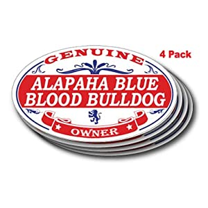 US Decal, Inc. ALAPAHA Blue Blood Bulldog Oval Sticker - 4 Pack 13