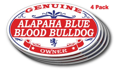 US Decal, Inc. ALAPAHA Blue Blood Bulldog Oval Sticker - 4 Pack 1