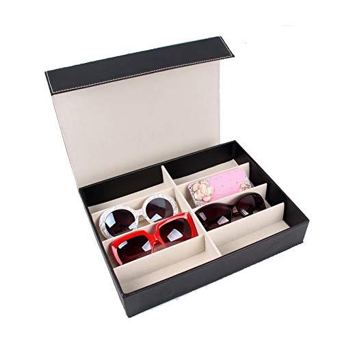 MUY Organizador de Almacenamiento de Gafas de Sol Caja de Almacenamiento de contenedores para Viajes o Regalos de cumpleaños Caja de Bandeja de joyería
