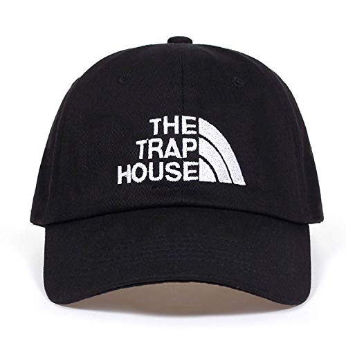 foclock New The Trap House Embroidery dad hat Fashion Style Rap Hip Hop Dad Cap Cotton for Women Men Golf Cap Black