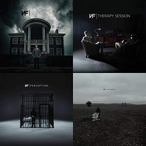 NF: Complete 4 Studio Albums CD Collection (Perception / The Search / Therapy Session / Mansion)