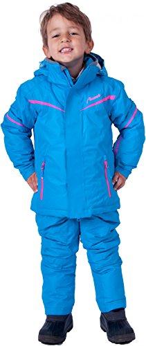 Almwerk ski-jack en skibroek voor kinderen, in blauw en roze