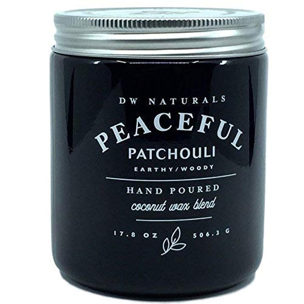 壮大感謝カウンターパートDW Naturals Peaceful Patchouli Earthy Woody Hand Poured Coconut Wax Blend Candle 17.8 Oz [並行輸入品]