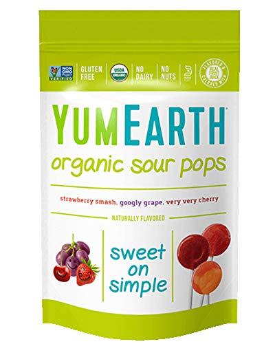 YumEarth Organic Sour Lollipops 3 Ounces 14 Lollipops 6 pack