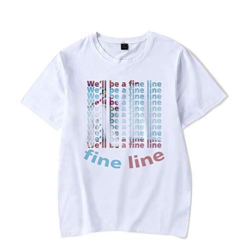 Hip Hop Harry Styles T-Shirt Fine Line Love on Tour-Frauen-Sommer-Harajuku Top Tees Female T-Shirt Grafik-T-Shirt,Rosa,M