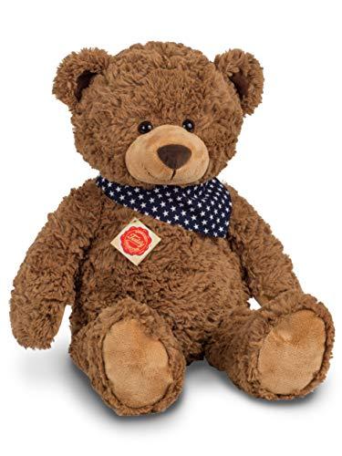 Teddy Hermann 91363 Teddy-Bär 48 cm mit Sternchen-Halstuch, Kuscheltier, Plüschtier
