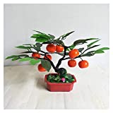 Artificial Potted Plants Artificial Orange Tree Artificial Fruit Potted Fake Fruit Tree Plant Bonsai Fake Plant with Plastic Pot for Home Office Garden Decoration ,13.8' H Faux Plants Decor