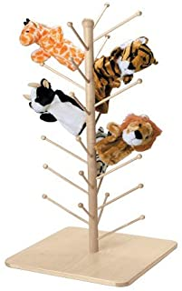 Marvel Education Wooden Puppet Tree, Stand Holds 26 Puppets
