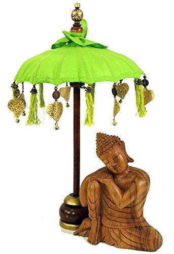 Guru-Shop Ceremoniële Paraplu, Aziatische Decoratieve Paraplu Klein - Citroen, 68x40 cm, Paraplu`s