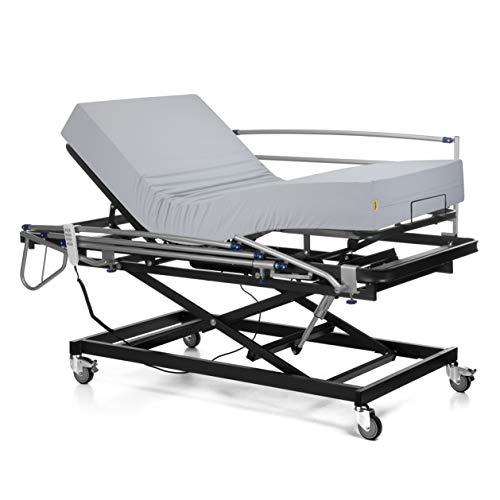 🦴 Comprar cama geriátrica con control remoto, colchón viscoelástico y color plateado