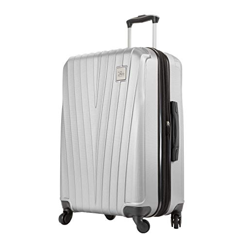 Skyway Epic Hardside 4-Wheel Luggage Spinner Collection (Silver, 24-Inch)