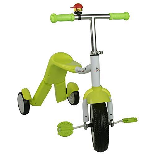 Airel Monopattino 2 in 1 | Scooter 3 Ruote 2 in 1 | Monopattino per Bambini | Bici Senza Pedali | Monopattino Bici Bambino