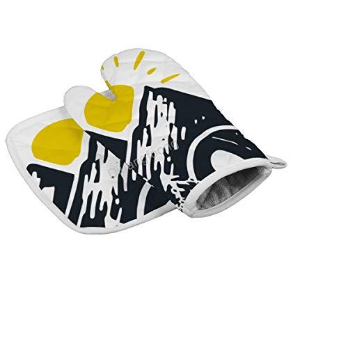 Diuangfoong guantes de camping color regular resistente al calor guante horno guante caliente sartén cocina herramienta para horno microondas horno barbacoa hombres mujeres 2 unids set
