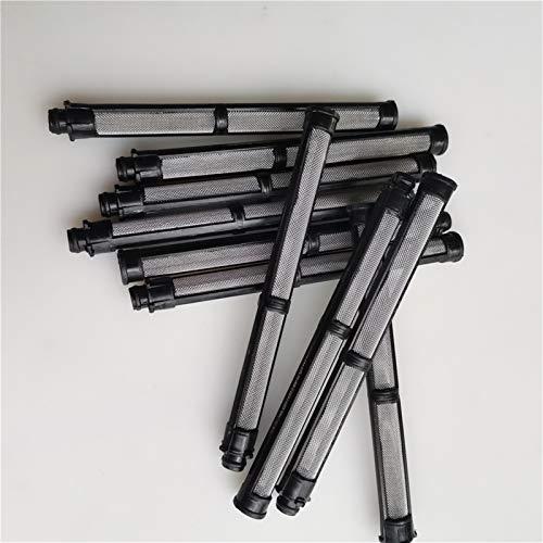 F-Mingnian-rsg 10 unids Negro 60 Malla 10x110mm Pistola de pulverización sin Aire Filtro de Pistola de pulverización 60 Malla Airless Bomba de espray Filtro Grid Adecuado para Graco 390