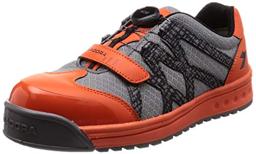 [ディアドラユーティリティ] 安全作業靴 JSAA認定 BOA搭載 ダイヤル式 プロスニーカー PIPIT ピピット PP728 オレンジ/ブラック/グレー 28.0cm 3E