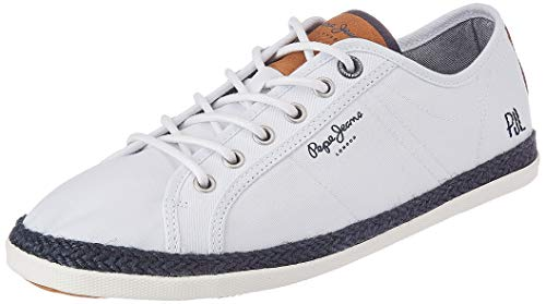 Pepe Jeans MAUI PMS 10280 Blanco Zapatillas para Hombre, 42