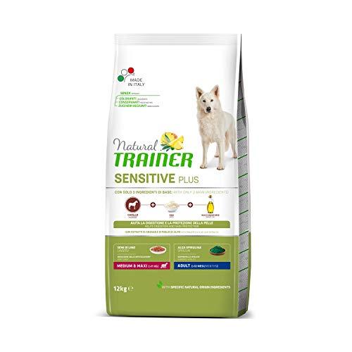 Natural Trainer Sensitive Plus - Cibo per Cani Adulti di Taglia Media e Grande, Alimento Secco con Cavallo-Riso-Olio, 12kg
