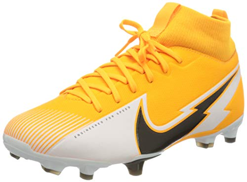 Nike Jr. Superfly 7 Academy FG/MG Football Shoe, Laser Orange/Black-White-Laser Orange, 36.5 EU