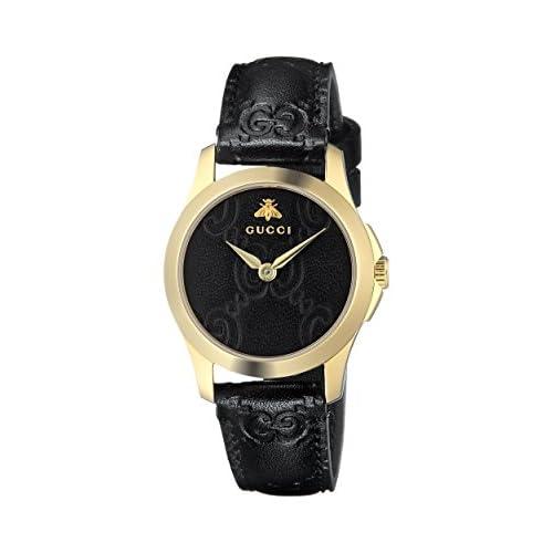 Gucci Orologio Analogico Classico Quarzo da Donna con Cinturino in Pelle YA126581