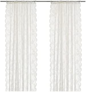 Ikea Alvine Spets Pair of Curtains, 2 Panels, White Sheer Curtains