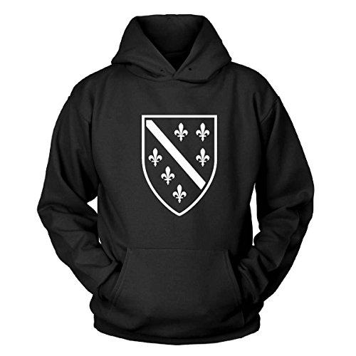 Shirtblaster Bosnien Wappen Kapuzenpullover Size XL