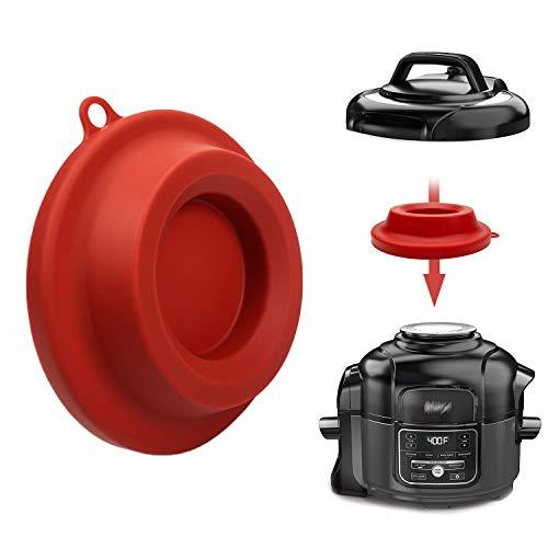 Soporte de tapa de silicona, accesorios de silicona para olla a presión Ninja Foodi olla a presión y freidora de aire 5 Qt, 6.5 Qt y 8 cuartos (rojo)