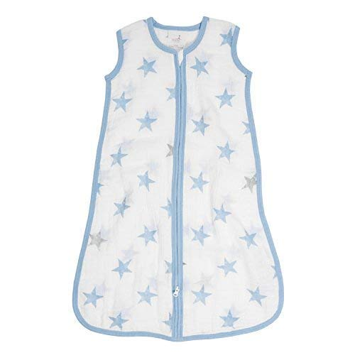 aden + anais Essentials Classic Sleeping Bag, 100% Cotton Muslin, Wearable Baby Blanket, Dolls, Stars, Medium, 6-12 Months