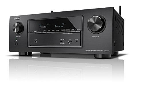 Denon AVRX3300WBKE2 7.2 Surround AV-Receiver (Dolby Atmos, dtsX, WLAN, Bluetooth, Spotify Connect, 7 Plus 1 HDMI 3D, 4K, 2 HDMI Ausgänge, HDCP 2.2, 2-Zonen, 7x 180 Watt) schwarz
