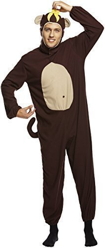 Hommes Adulte Cheeky Monkey Combinaison Animale Bestival Costume Déguisement