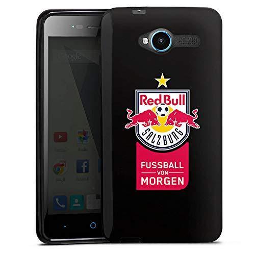 DeinDesign Silikon Hülle kompatibel mit ZTE Blade L3 Case schwarz Handyhülle FC Red Bull Salzburg transparent Offizielles Lizenzprodukt