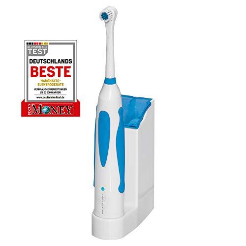 ProfiCare elektrische Akku-Zahnbürste PC-EZ 3055, schnell oszillierender Bürstenkopf, abgerundete Tynex DuPont - Qualitätsfasern, Weiß / Blau